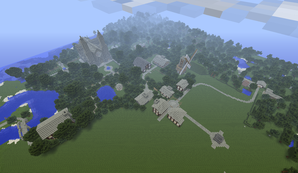 Unnamed Minecraft Village by Myrik-Tylo