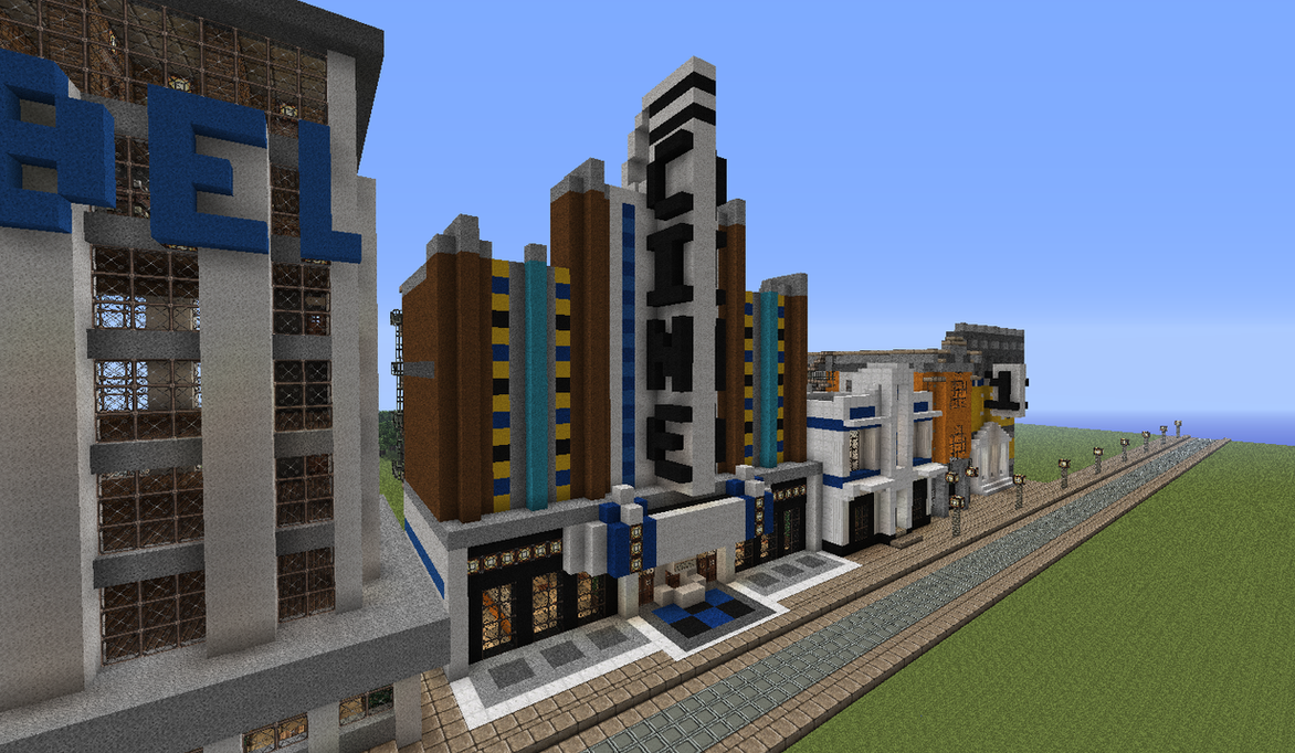 how to make a small movie theater in minecraft