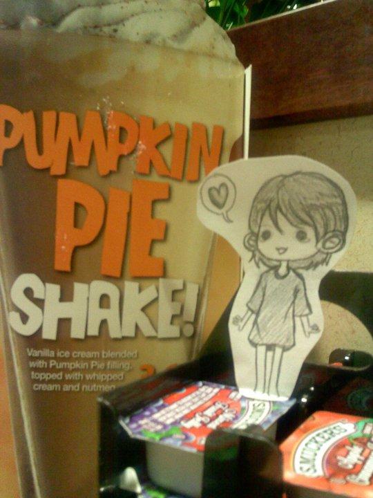 Pumpkin Shake Paperchild by Pockaru