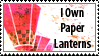 Paper Lanterns Stamp by Pockaru
