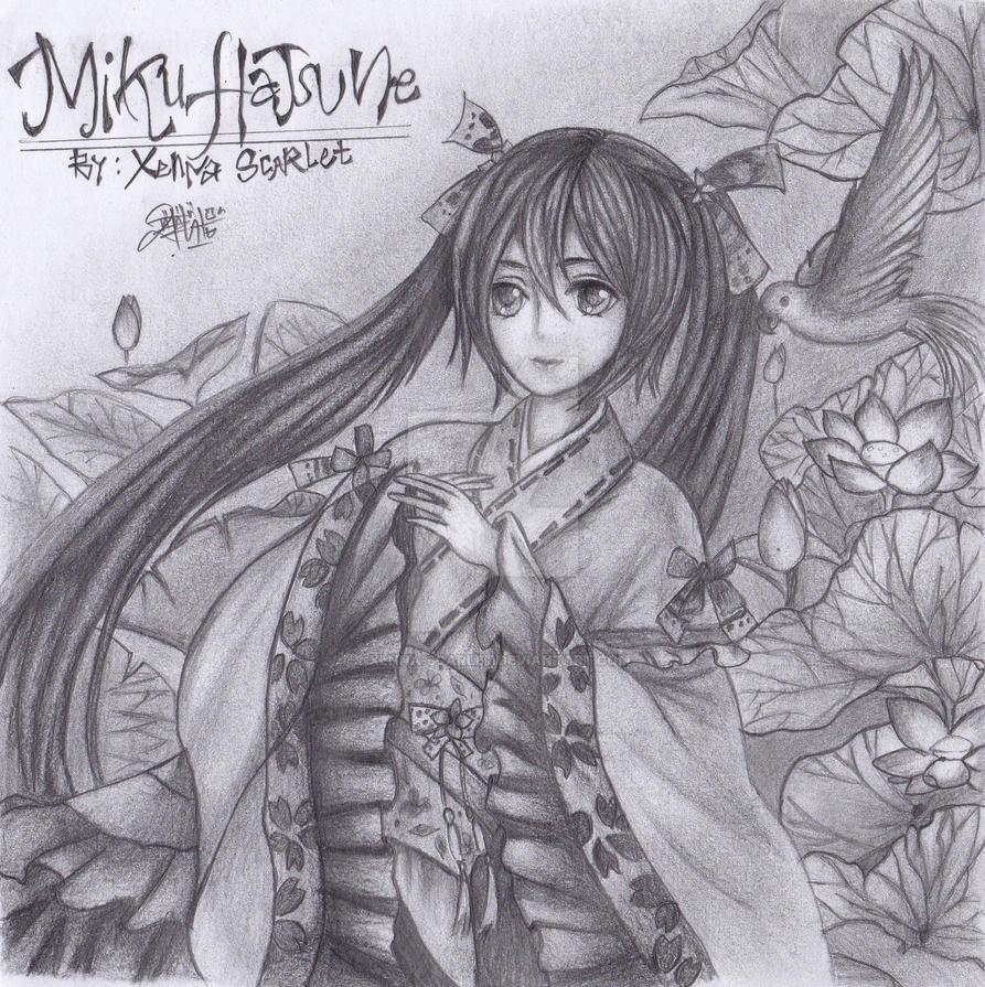 Miku Hatsune by XenNa-Scarlet