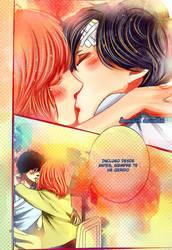Kou and Futaba kiss - Ao Haru Ride 46 by IAMeikoD