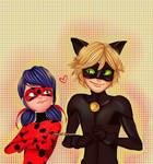Chat noir and Ladybug - Miraculous ladybug