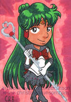 Sketchcard - Chibi Sailor Pluto by StineTheKitty