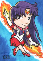 Sketchcard - Chibi Sailor Mars by StineTheKitty