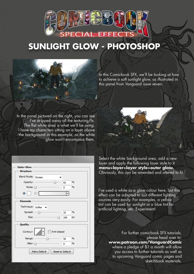Comicbook SFX - Sunlight Glow - Photoshop by MrHades