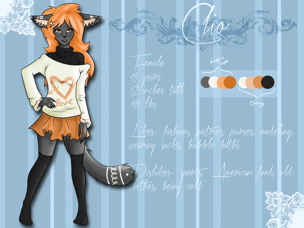Clio Reference Sheet by Xecax