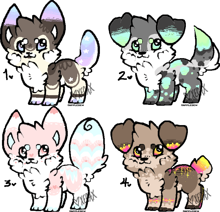 Pixel Puppy Adopts (OPEN!) by Xecax