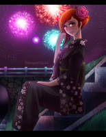 Commission : Firework Festival by Poltergeist-El
