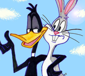 Daffy....and Bugs too by SnappySnape