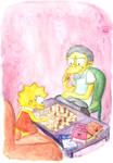 Moe Babysitting Lisa
