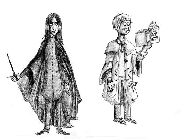 The bat and the wolf of Hogwarts by SnappySnape