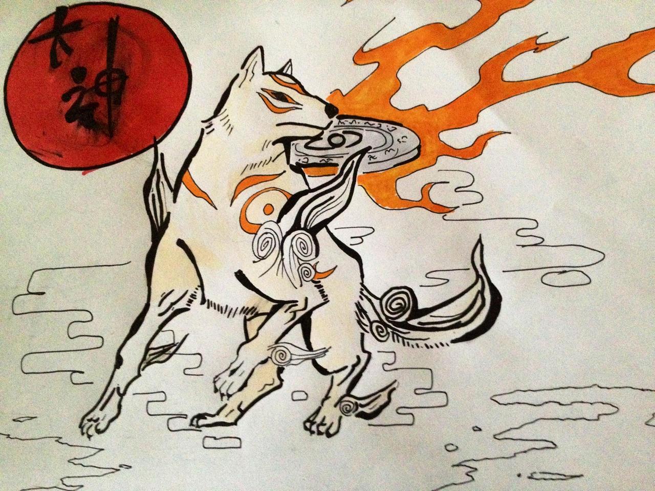 Amaterasu from Okami by SirPomPom