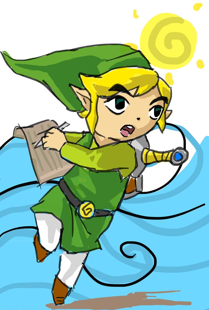 Toon Link by SirPomPom