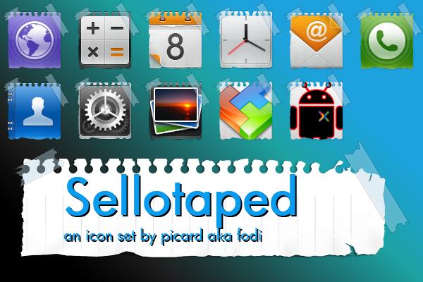 Sellotaped iconset by fodi666