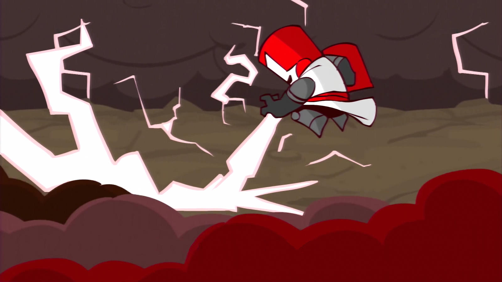 castle crashers red knight 16 9 by bluethunderfox on
