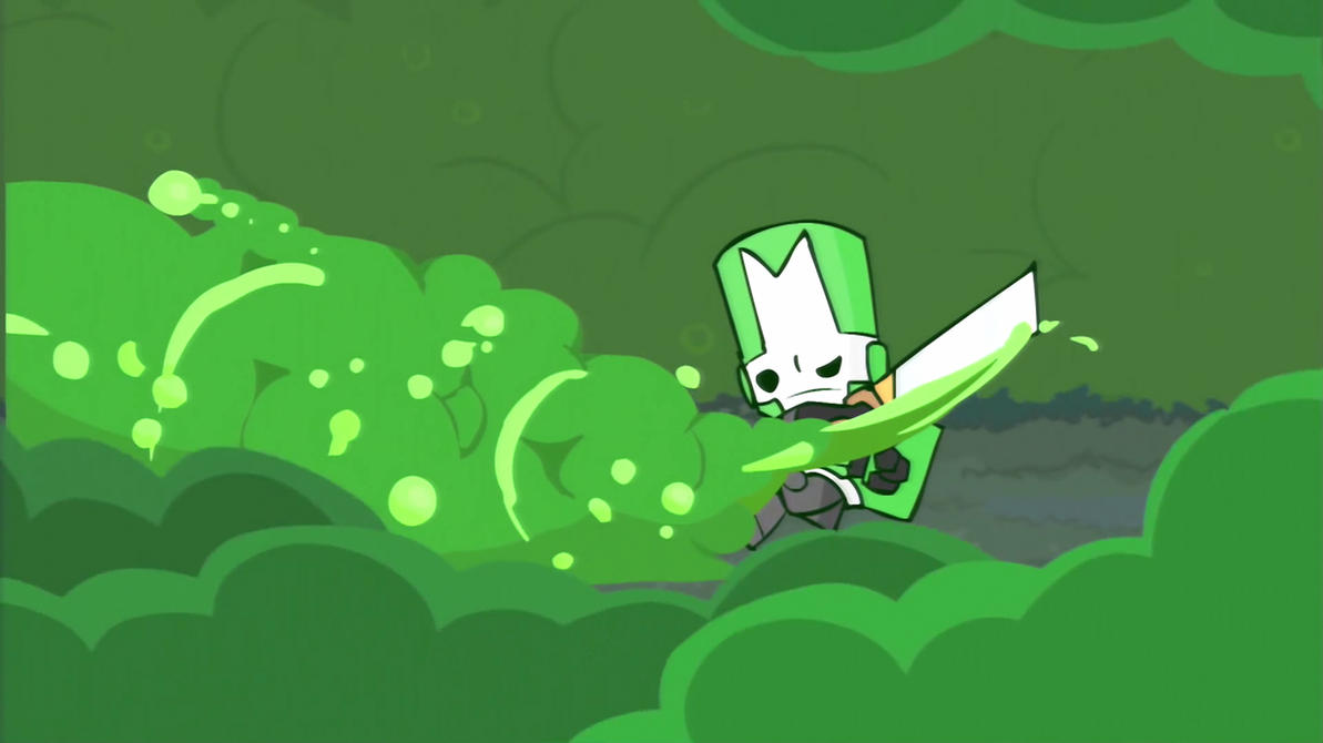 castle crashers green knight 16 9 by bluethunderfox on