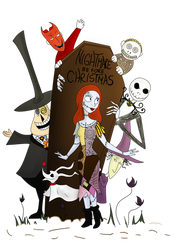 Nightmare Before Christmas by clwnprincessofcrime