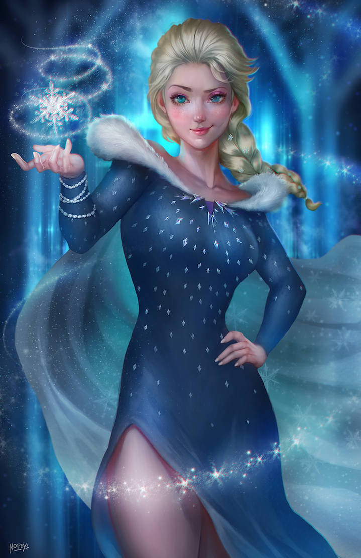 My Commission: Winter Elsa by gh0st-of-Ronin