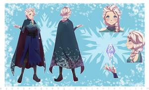 My Commission: Elsa in Skyrim (1)