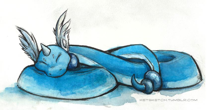 Sleepy Dragonair by kenket