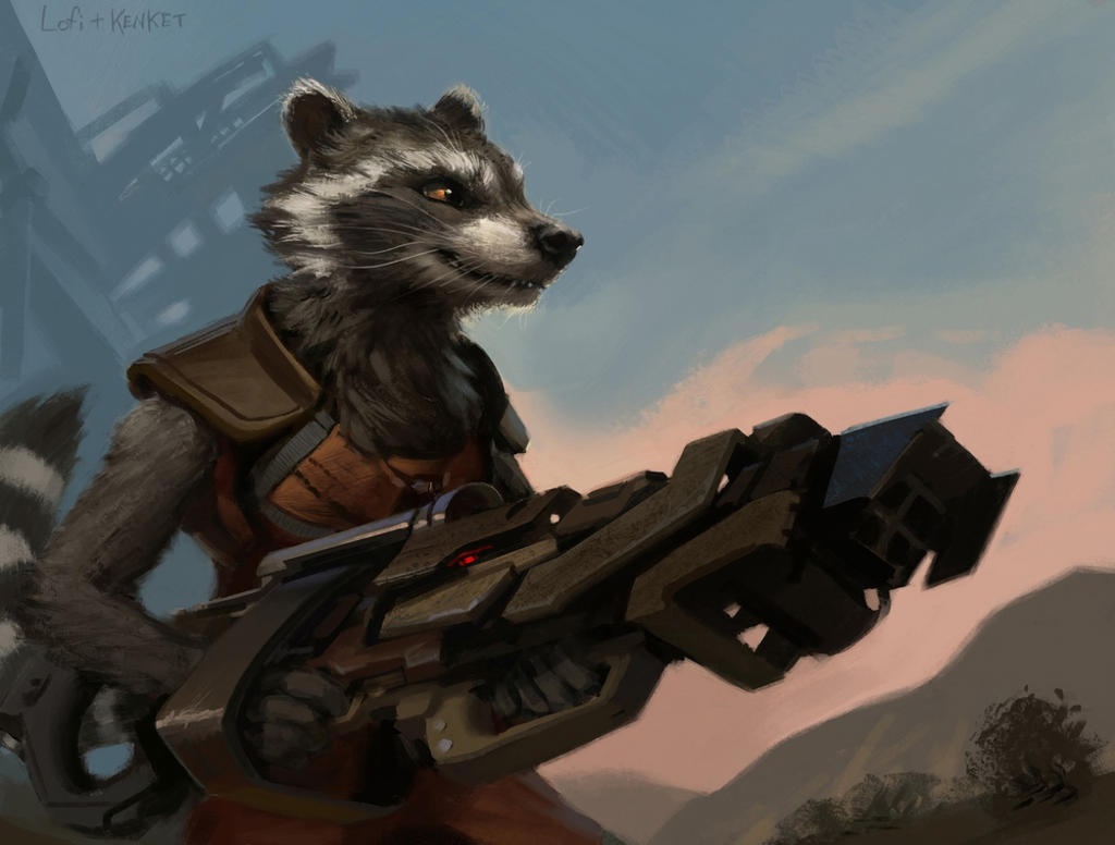 Star Lord And Rocket Raccoon By Timothygreenii On Deviantart: Rocket Raccoon By Kenket On DeviantArt