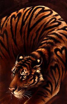 Seven of Hearts: bengal tiger