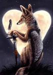 Jack of Hearts: jackal by kenket