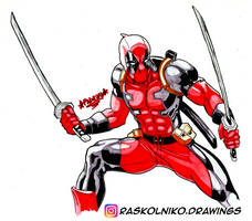 Deadpool by Rafael-Raskolniko