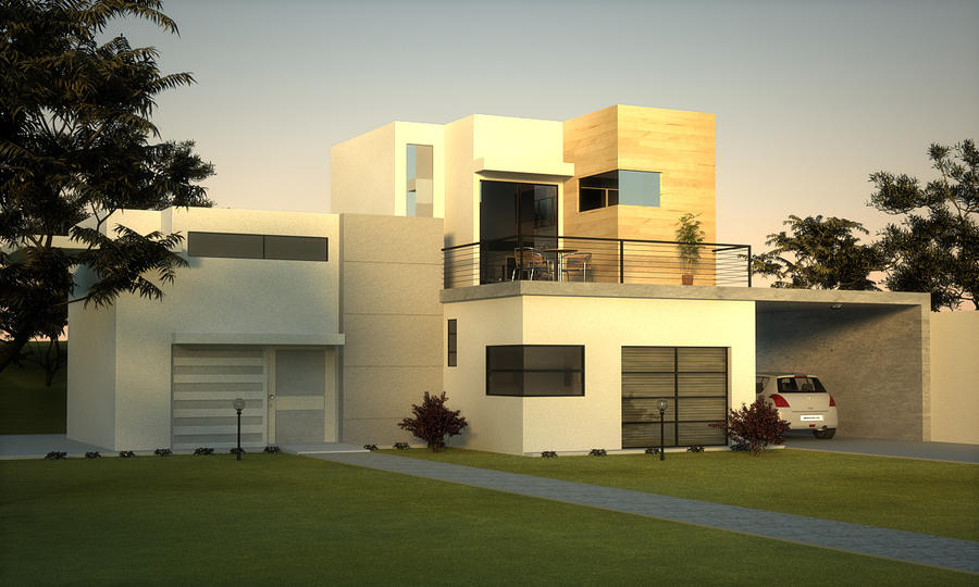 Minimalist house by grafix3d on deviantart for Minimal house artists