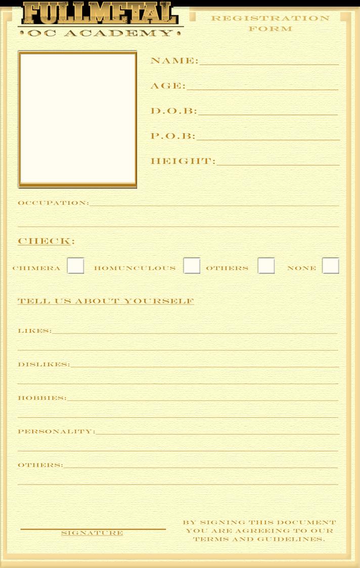 Registration Form Template by BitterCherry on DeviantArt – Student Registration Form Template