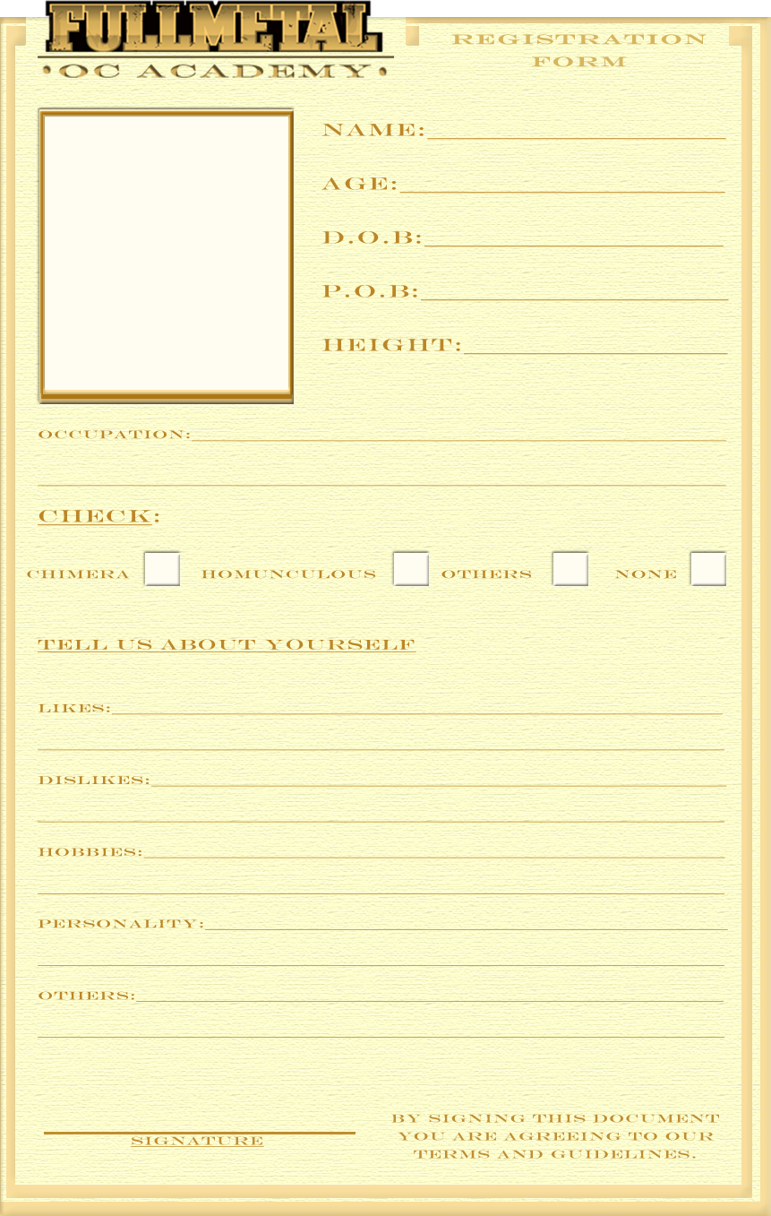 registration form template by bitter cherry on deviantart. Black Bedroom Furniture Sets. Home Design Ideas