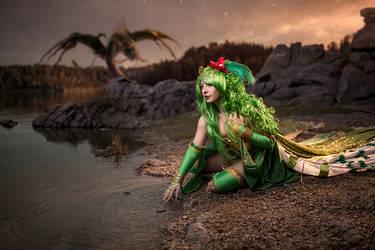 Rydia and the dragon