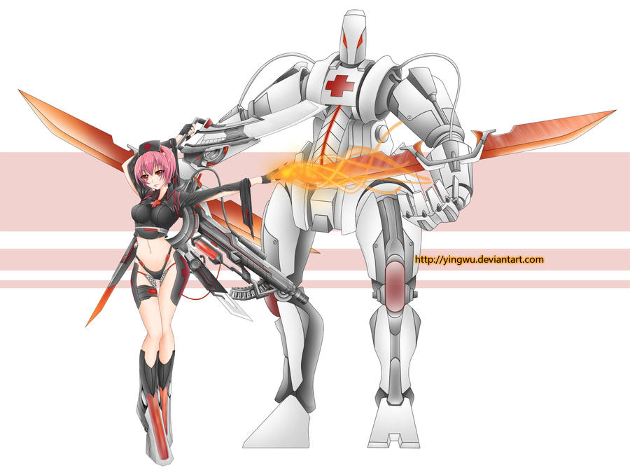 mecha nurse by yingwu