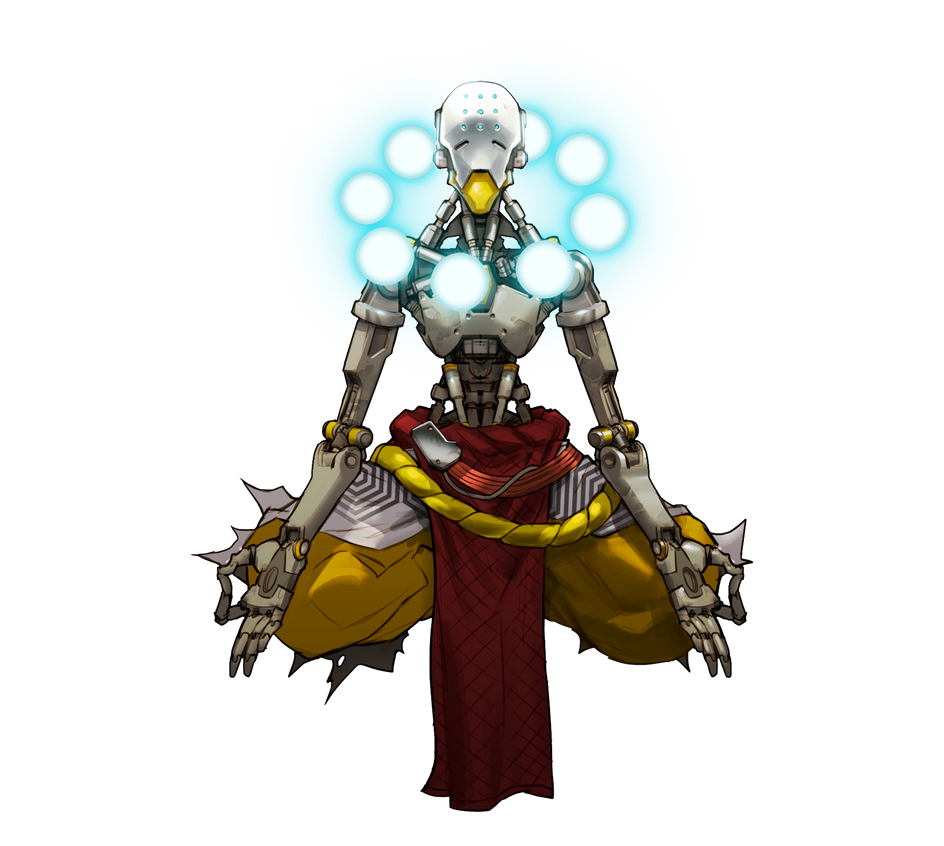 Zenyatta - Overwatch by PlanK-69