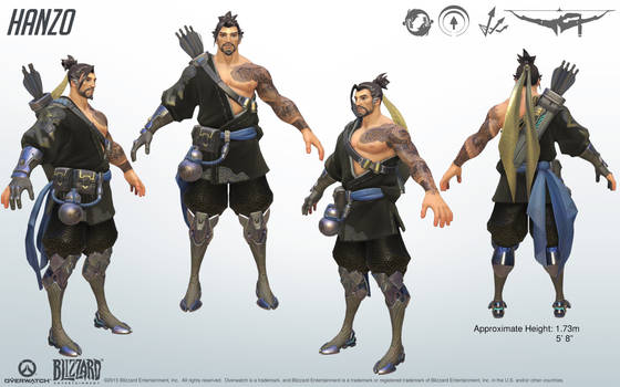 Hanzo - Overwatch - Close look at model