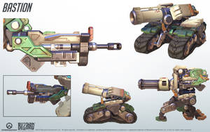 Bastion - Overwatch - Close look at model by PlanK-69