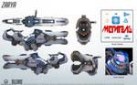 Zarya - Overwatch - Close look at model