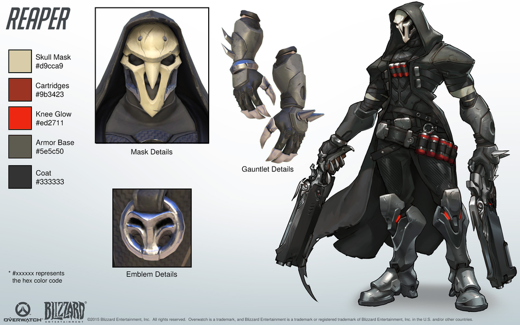 Reaper Overwatch Close Look At Model By PlanK 69 On DeviantArt