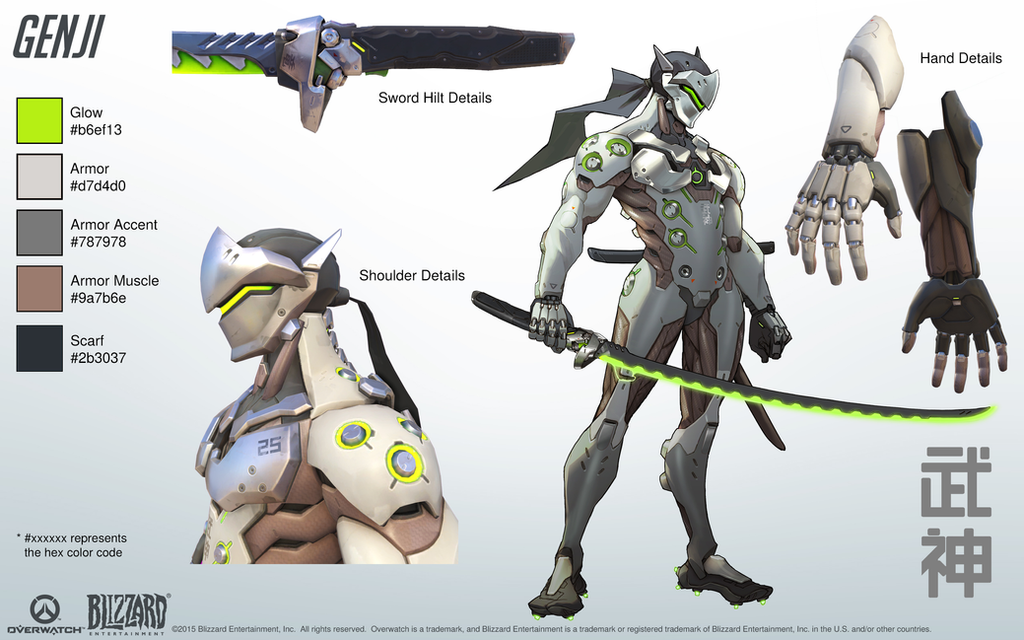 Genji Overwatch Close Look At Model By PlanK 69 On