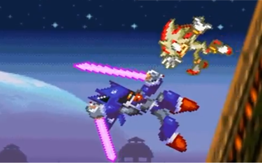 Metal Sonic VS Super Shadow by OrangeGBA on DeviantArt