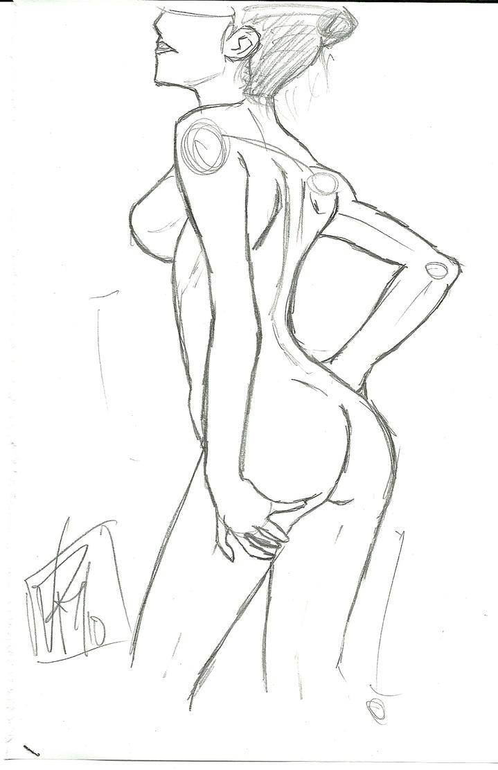Line Drawing Female Body : Body drawing practice by alchemist on deviantart