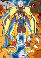 + Tai and Agumon + by Thanysa