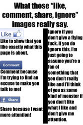 Like, Comment, Share, Ignore, What They Really Say