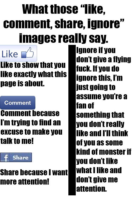 Like, Comment, Share, Ignore, What They Really Say by ...