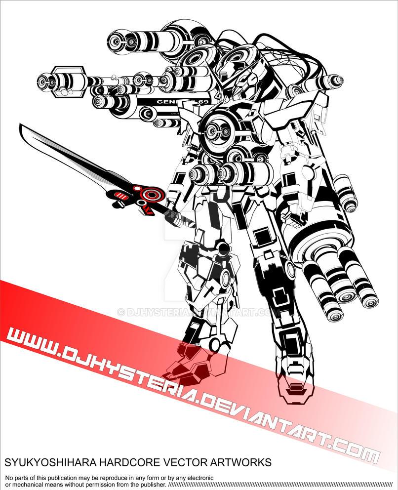 hardcore gundam trace by djhysteria