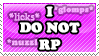 I Do Not RP by TheMarianOmi