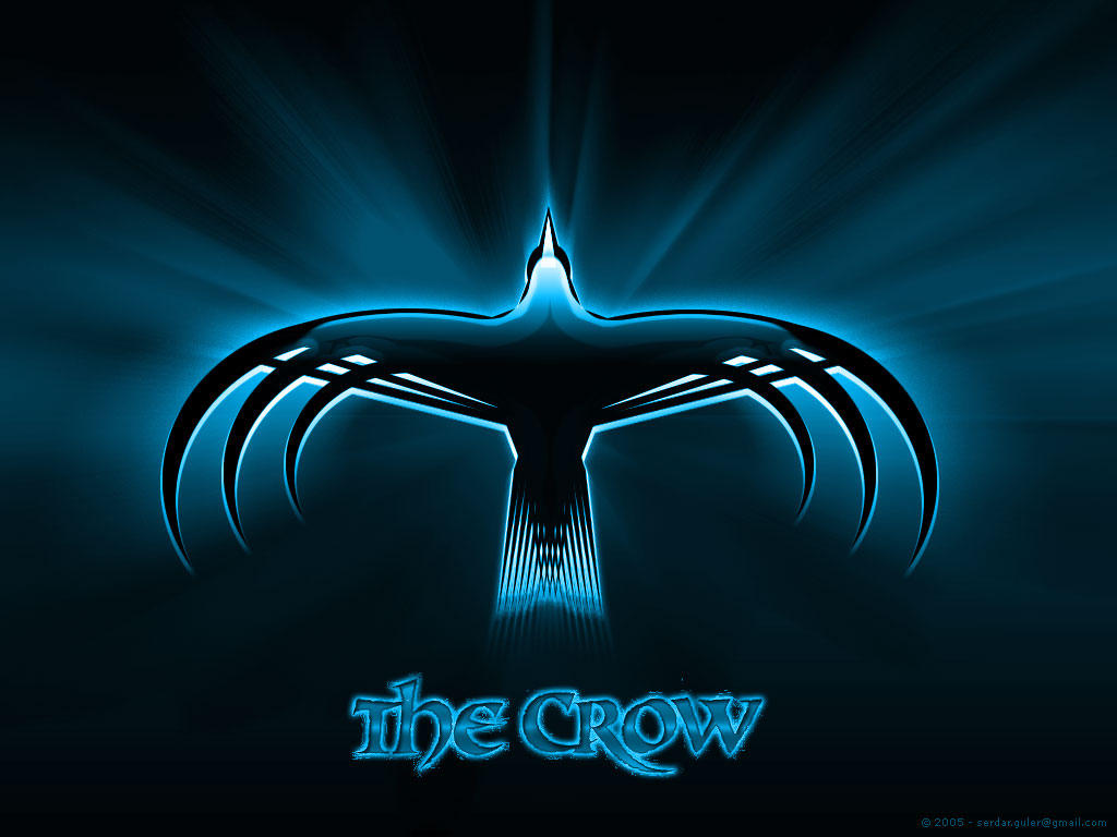 The Crow' Wallpaper, Blue by
