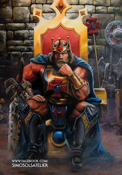 King He-Man / Oil on Canvas