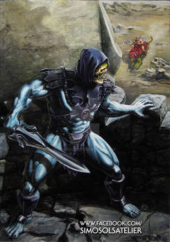 On Top Of Grayskull - A MOTU Skeletor Portrait